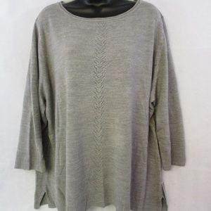Karen Scott Women's Plus Size 2X Gray Sweater